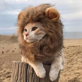 Haustier Lustige Accessoires Katze Tiara Katzenperücke, Größe: Klein