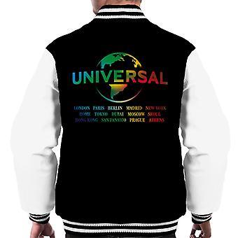 Universal Pictures Rainbow Logo Platser Mäns Varsity Jacka