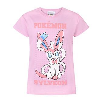 Camiseta de manga corta de Pokemon Girls Sylveon
