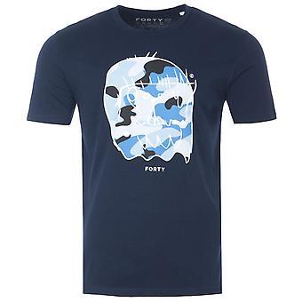 Forty Benjamin Organic Cotton T-Shirt - Navy