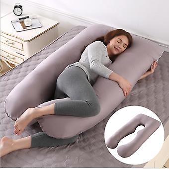 الحمل وسادة U شكل كامل الجسم وسادة ودعم الأمومة للنساء الحوامل (رمادي)