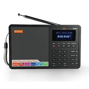 FM Radio, Bluetooth DAB + / FM + BT / TF-Karte / AUX, 1,8 Zoll LCD-Display, DAB-Radio-Lautsprecher