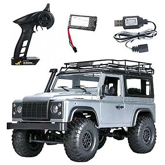 Aionyaaa Mn Model Mn99 / 99s 1:12 Remote Control Crawler Car Scale 4wd 2.4g Remote Control Truck Toy Gray