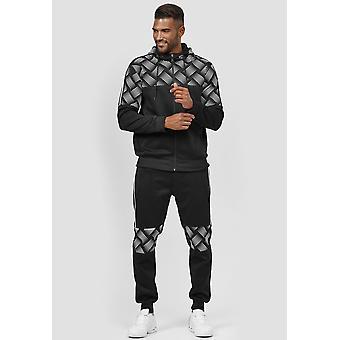 Pánske Tepláková tepláková súprava Jogging Suit Podšitý Športový oblek Set Telocvičňa Bunda &nohavice