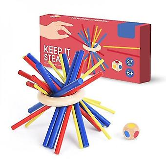 Diikamiiok Children's Wooden Stick Stable Stacking Toy Balance Patience Skill Training Puzzle Game