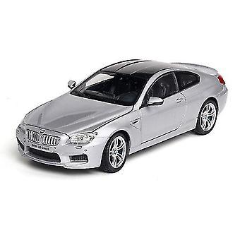 Toy cars 1:24 bmw m6 car model alloy car die cast model toy car kid toy birthdaychristmas gifts silver