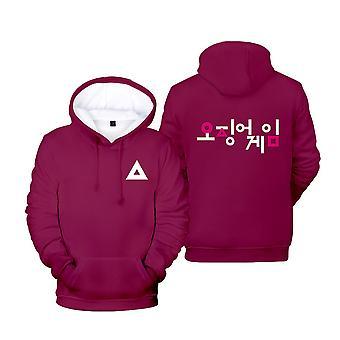 Ywy16 Squid Game Actor's Jacket Hooded Sweatshirt