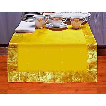 Giallo - mano artigianale Table Runner (India)