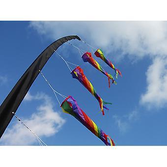 Pole ermet 5m for å feste windsocks, flagg og spinnere