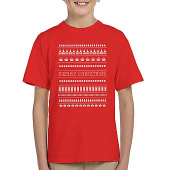 Great Britain Weihnachten Kinder T-Shirt