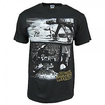 Star Wars Mens Star Wars Scenes T Shirt Black
