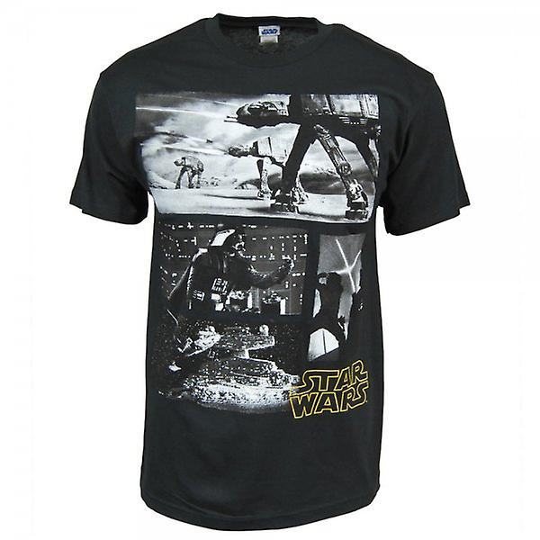 Star Wars Mens Star Wars cenas T camisa preta