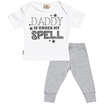 Spoilt Rotten Daddy Under My Spell Baby T-Shirt & Baby Jersey Trousers Outfit Set