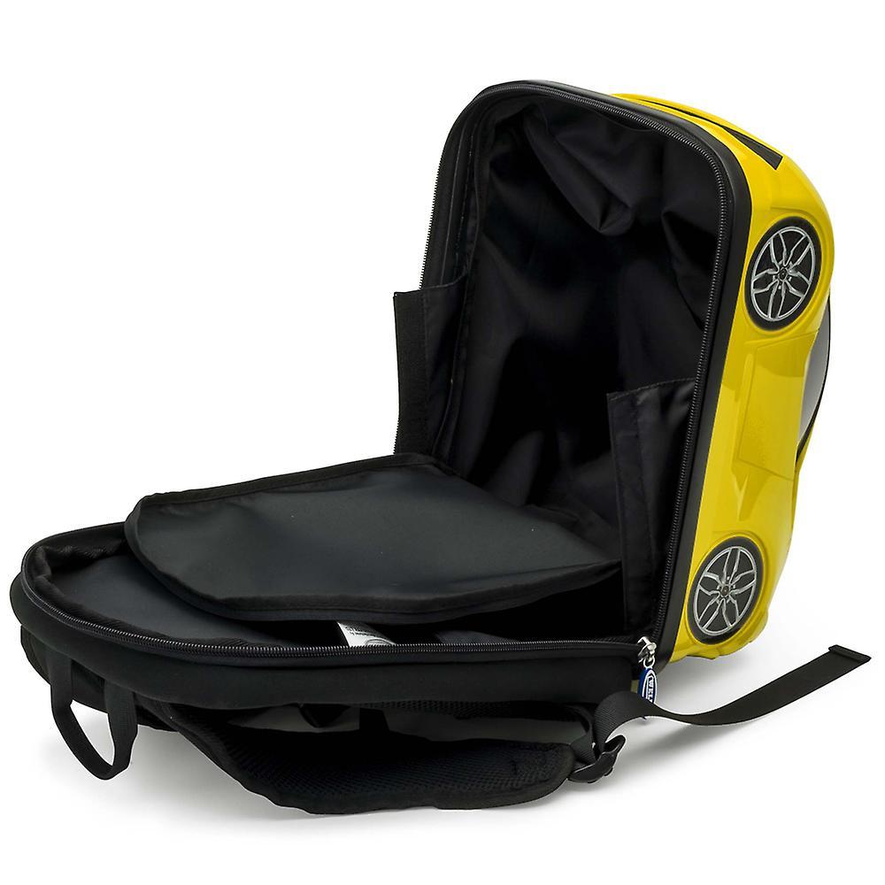 Official Lamborghini Sports Car Kids School Rucksack Backpack Bag - Yellow