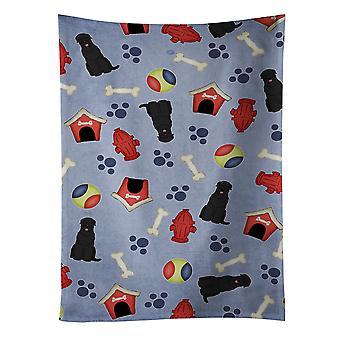 Dog House Collection svart rysk Terrier kökshandduk