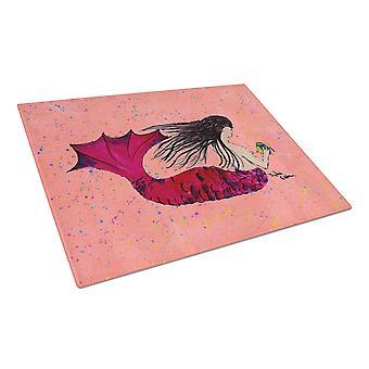 Carolines Treasures  8338LCB Mermaid  Glass Cutting Board Large