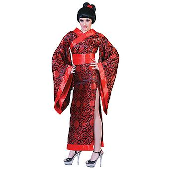 Kim Kimono rosso Giappone Lady giapponese Geisha Madame Butterfly donne Costume