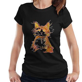 T-Shirt chat géométrique féminin