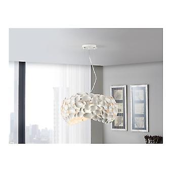 Schuller Narisa 47cm White Designer Ceiling Pendant Lamp, 5 Light