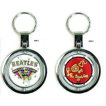 De Beatles Keyring sleutelhanger Magical Mystery Tour officiële nieuwe zilveren Spin