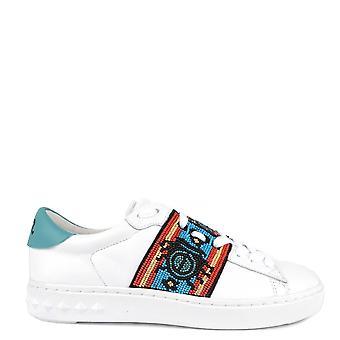 Ash Footwear Phantom White Leather Embellished Trainer