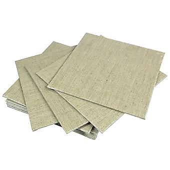 Pebeo Linen Canvas Board 10 x 10cm (Pack of 3)