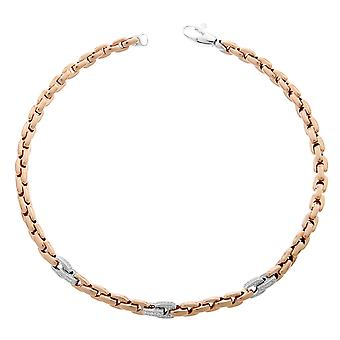 Orphelia Silver 925 halsband Rose Square länkar Zirc ZK-7158