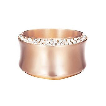 ESPRIT women's ring stainless steel Rosé Crystal curved ESRG12542C1