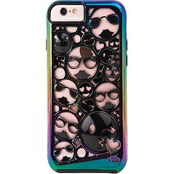 5 Pack -Case-Mate Tough Layers Emoji Case for iPhone 6/6s/7/8 - Iridescent/Black