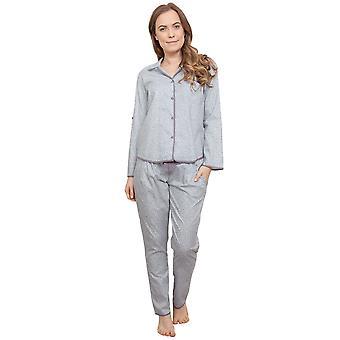 Cyberjammies 3772 kvinnors Sienna grå blad ut pyjamas pyjamas Top