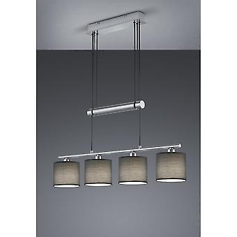 Trio Lighting Garda Modern Nickel Matt Metal Pendant