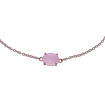 Classic Oval Milky Morganite Single Stone Bracelet in 925 Sterling Silver 270L010701925