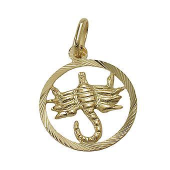 Dyrekretsen tegn anheng-Scorpio gull 375 dyrekretsen, Skorpionen, 9 KT GULL