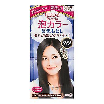 كاو اليابان ليس فقاعة رغوة الشعر لون كيت--الأسود الطبيعية