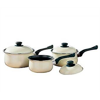 3pc conjunto de utensilios de cocina crema