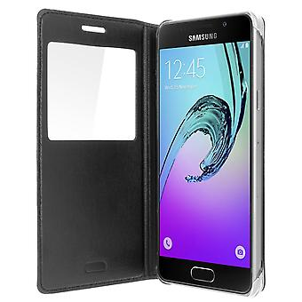 Smart view window flip case for Samsung Galaxy A5 2016, slim cover – Black