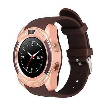 Stuff Certified ® Original V8 SmartWatch HD Smartphone Watch OLED iOS Android Brown