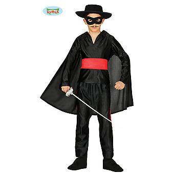 Traje de bandido mascarado para crianças Carnaval do Vingador Negro