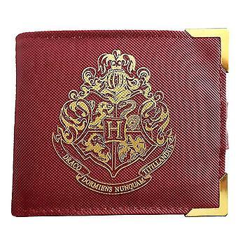 Harry Potter Premium Geldbeutel Hogwarts Wappen rot, bedruckt, aus Lederimitat.