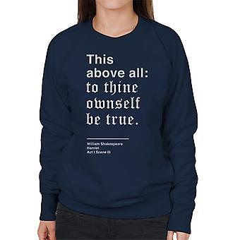 Wierny sam siebie być prawda Hamlet Shakespeare cytat Damska bluza
