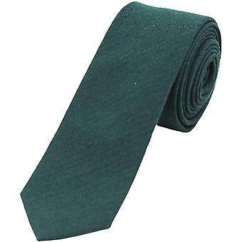 David Van Hagen plaine riche en laine fine cravate - Racing vert