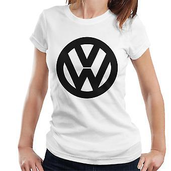 Official Volkswagen Classic Black VW Logo Women's T-Shirt