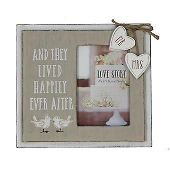 And They Lived Happily Ever After - Wedding Day Photo Frame