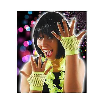 Jaune vif de gants résille gants