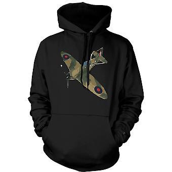 Mens-Hoodie - Spitfire grün Cam Pop-Art - Zitat
