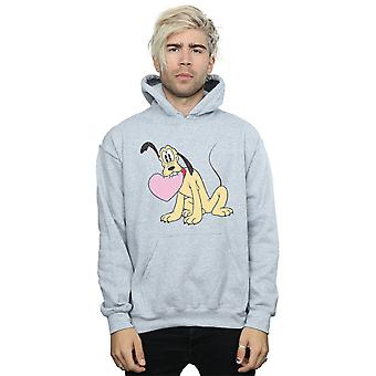 Disney Men's Pluto Love Heart Hoodie