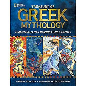 Skattkammare av grekisk mytologi: klassiska berättelser om gudar, gudinnor, hjältar och monster