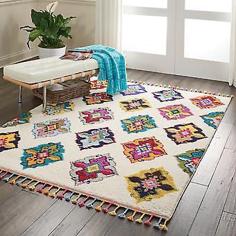 Nómada Nourison NMD06 rectángulo Multi marfil alfombras alfombras tradicionales
