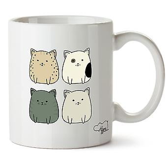 Hippowarehouse Kitty Cat Squad impreso taza taza cerámica 10oz