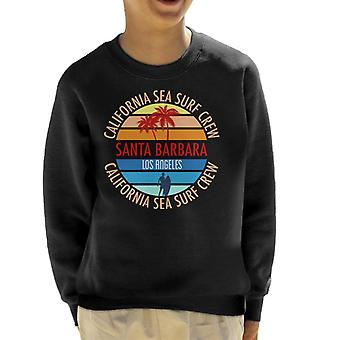 Santa Barbara California Sea Surf Crew Kid's Sweatshirt